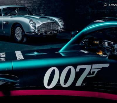 Aston Martin, en misión especial en Monza: logos 007 en el coche