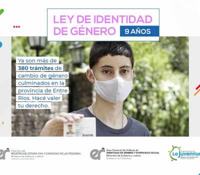 En Entre Ríos se realizaron casi 400 trámites de cambio de género