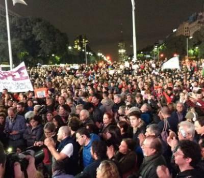 En Concordia también hubo marcha en contra del gobierno nacional
