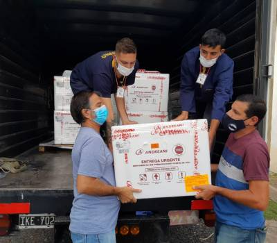 La provincia recibió este domingo 12.000 dosis de la vacuna Sputnik V