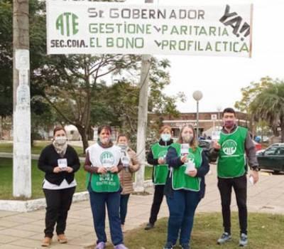 ATE realizó su movilización de protesta recorriendo las calles de Concordia