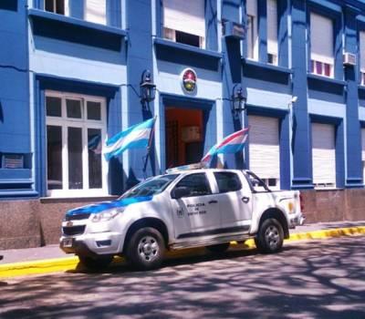 DESAPARECIÓ UNA BARANDA DEL GAZEBO EN PLAZA 25 DE MAYO